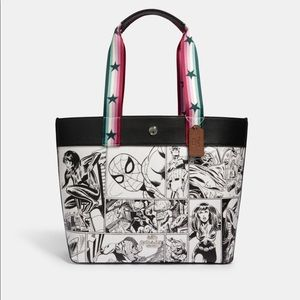 Coach Marvel Jes Tote with comic print